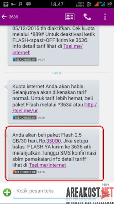 paket reguler (24jam) 2.5 GB/bulan hanya Rp 35.000