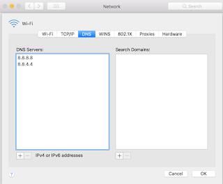 Mac dns değiştirme işlemi