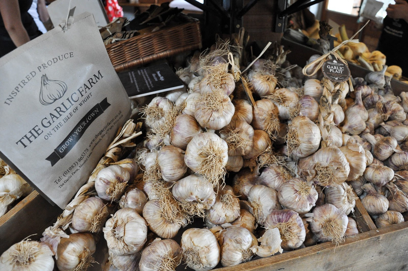 Shopping for garlic, The Garlic Farm, Isle of Wight, UK