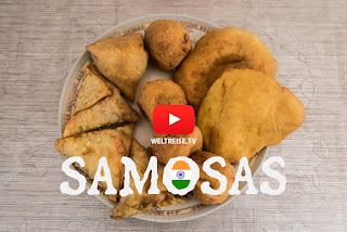 best food in india samosas vegetable or with chicken very tasty
