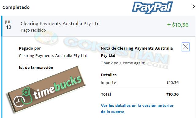 Resultado de imagen para timebucks png pago paypal
