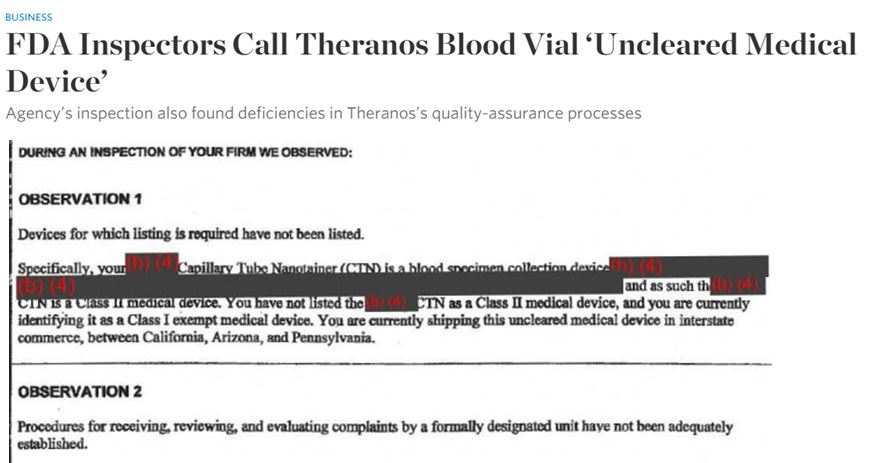 Discoveries in Health Policy: FDA and Theranos: FDA Promised