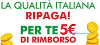 Logo Spuma di Sciampagna: cashback di 5€ con ''La qualità italiana ripaga''