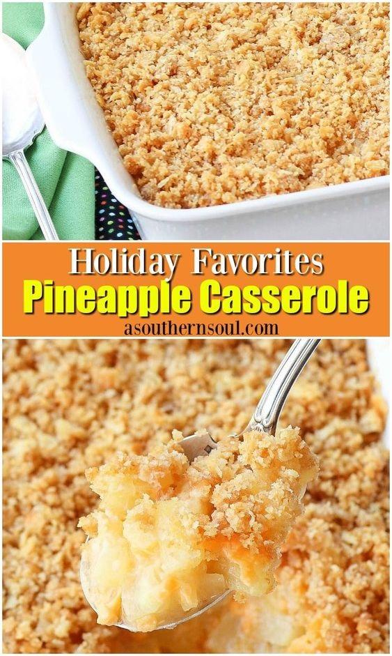 Southern Pineapple Casserole