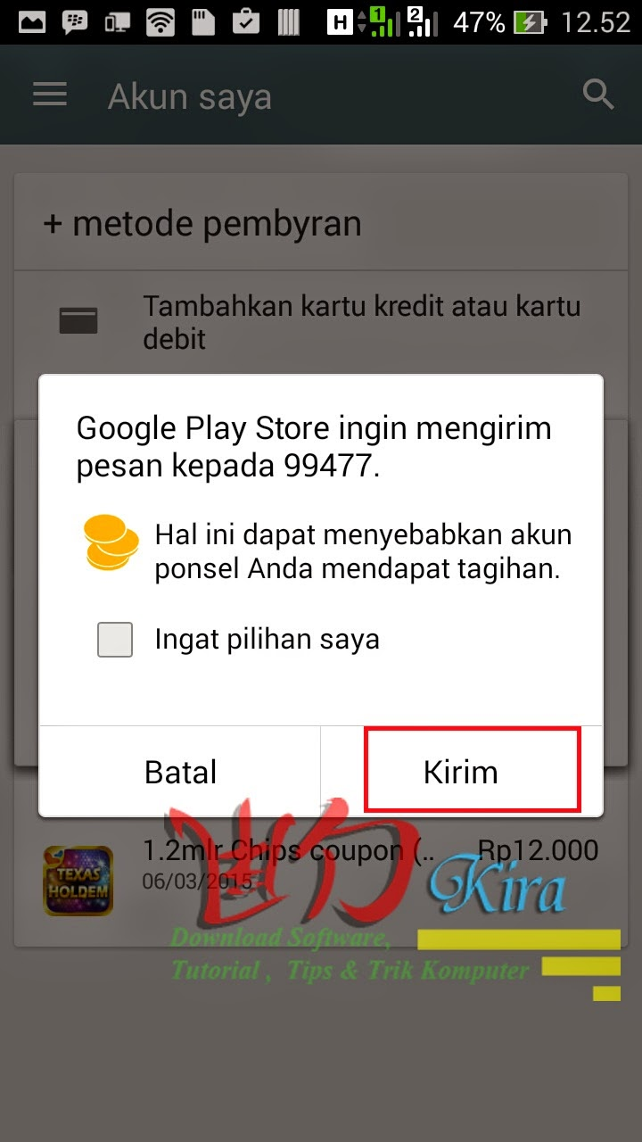 Cara Menambahkan Metode Pembayaran Telkomsel pada Google Play Store