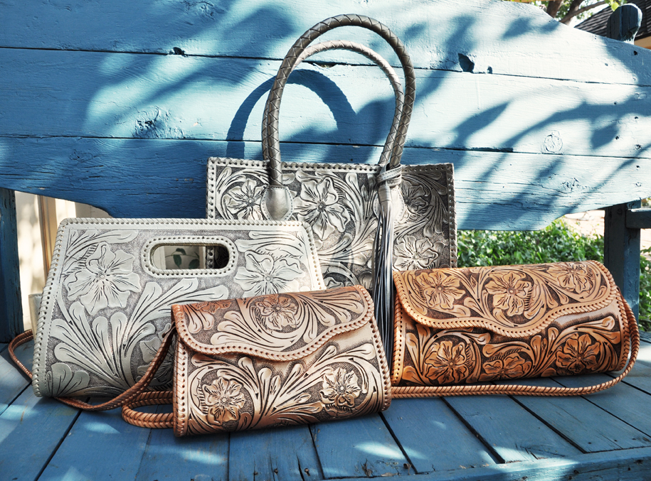 Exquisite Hand Tooled Leather Handbags