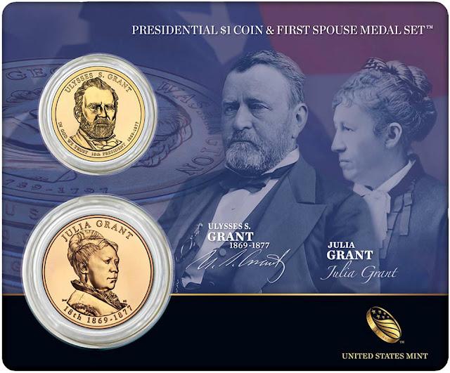 President Ulysses S. Grant & First Spouse Julia Grant