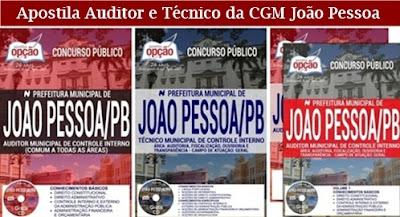 Apostila Prefeitura de João Pessoa - Auditor e Técnico da CGM