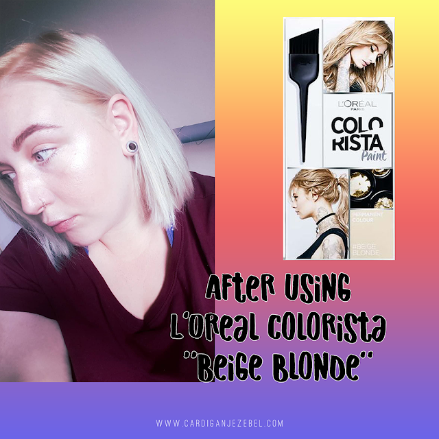 After using L'oreal colorista paint in beige blonde