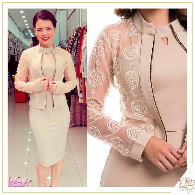 Que tal um vestido com casaquinho nesta cor maravilhosa! Eu achei esse baphônico...😱