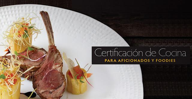 Certificación de cocina para Aficionados y Foodies