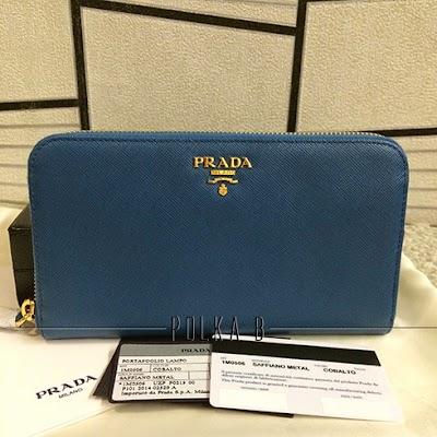 588c1782fe65 ... netherlands prada saffiano leather zip around wallet 1m0506 cobalto  61950 8eced