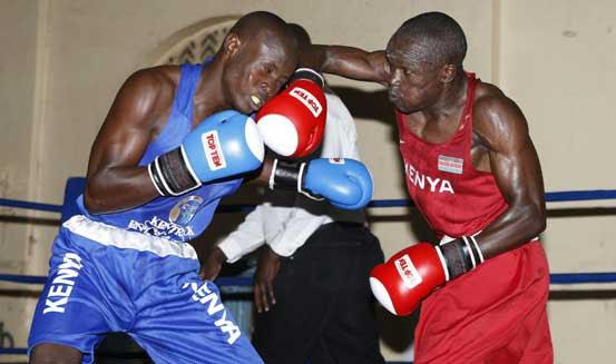 Mshindi wa medali ya dhahabu Nick Okoth akiwa mazoezini,Picha kwa hisnai ya Standard Digital