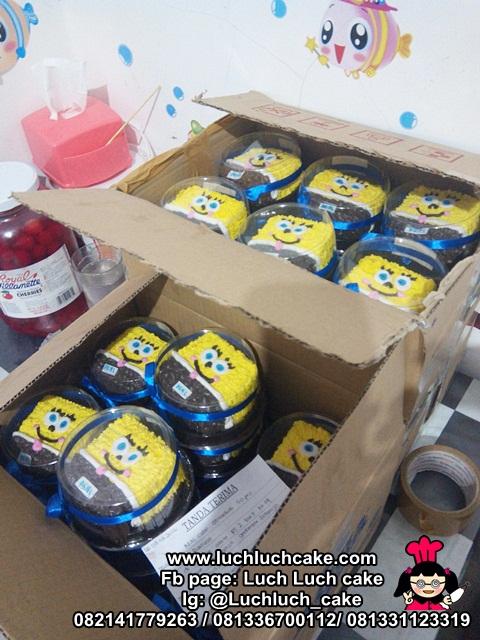 Spongebob Mini Cake Souvenir Ulang Tahun