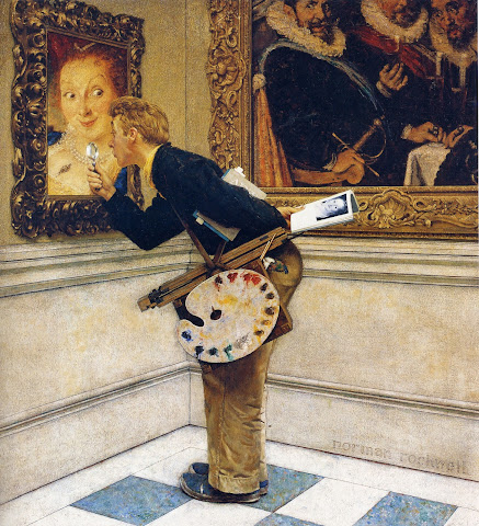 1955 The art critic by Norman Rockwell
