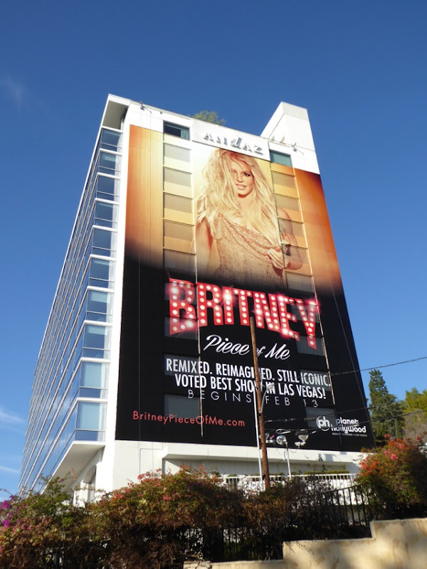 Giant Britney Piece of Me concert billboard