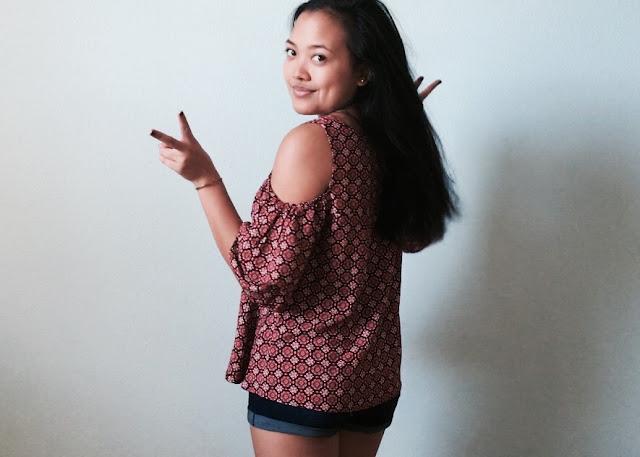 back to school outfits, school outfit ideas, lauren banawa, open shoulder top, boho fashion