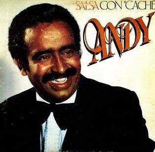 Foto de Andy Montañez en portada de disco