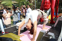 Bollywood Actress Shilpa Shetty Pos at Yoga Posed Statue Inauguration .COM 0017.jpg
