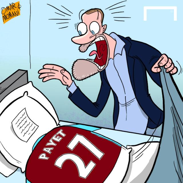 Dimitri Payet and Slaven Bilic cartoon