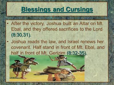 De berg Ebal en Gerizim spreken, Jozua 8