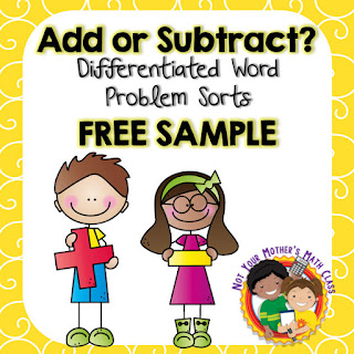 Students can practice choosing the correct operation when solving addition and subtraction word problems using this free sort. It is great for interactive notebooks or math centers.