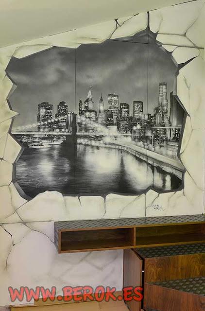 Decoración con graffitis en armario