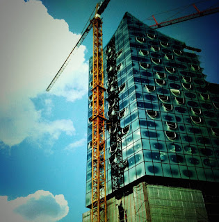 Baustelle der Elbphilharmonie Hamburg