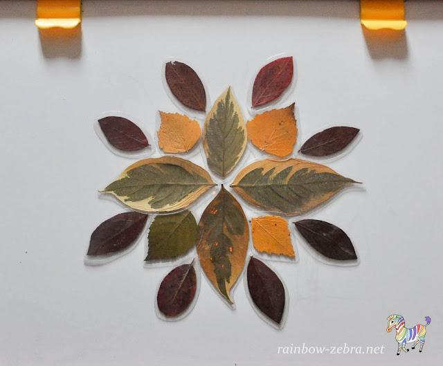 Магнитная мозаика из осенних листьев