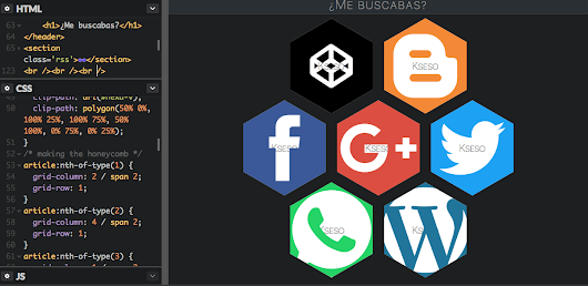 EsCss: Auto hexagonal CSS Grid Layout V3 en panel. Por @Kseso