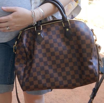 AwayFromTheBlue Blog | Louis Vuitton damier ebene speedy bandouliere 30 handheld
