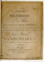 Amand Vanderhagen (1753-1822) - Nouvelle méthode de flûte divisée en 2 parties.