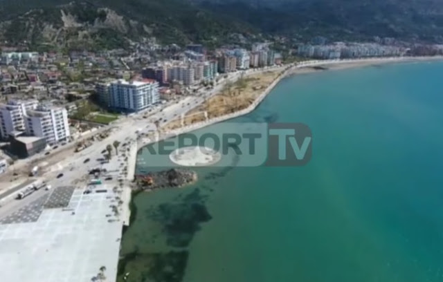 Lungomare towards the end - stunning images made by drone