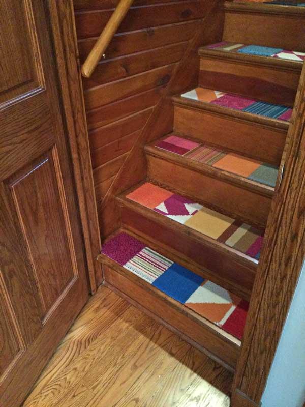 Honey I Shrunk The House: FLOR carpet tiles for stairs