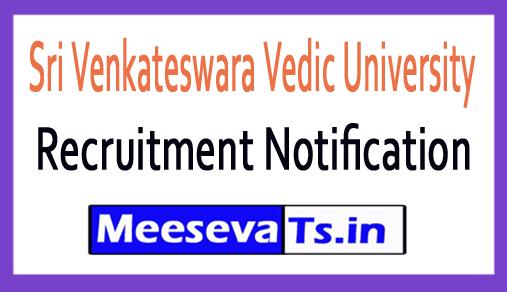 Sri Venkateswara Vedic University SVVU Recruitment