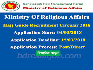 Ministry Of Religious Affairs Hajj Guide Recruitment Circular 2018
