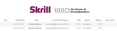 MicroWorkers payments withdraw to Skrill