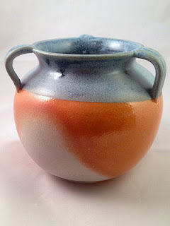Soda Fired Tri-handled Ceramic Crock by Future Relics Pottery