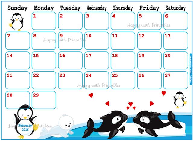 Valentine planner, cute planner, planner for kids, calendar for kids, cute calendar, Valentine calendar