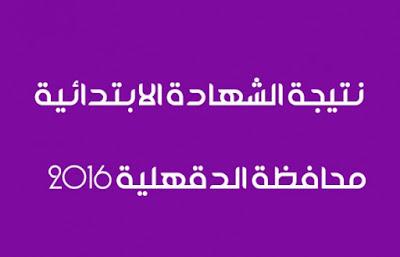 نتيجة الشهادة الابتدائية بمحافظة الدقهلية اخر العام 2016 - الموقع الرسمي للادارة