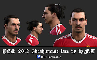 Face Zlatan Ibrahimovic, New club Manchester United, Pes 2013