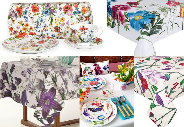 Zara Home floral tablecloths and sets