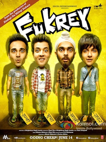 Fukrey 2013 Hindi 720p HDRip 950mb