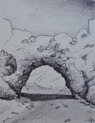 croquis aquarellés de voyage par l'artiste peintre séverine peugniez