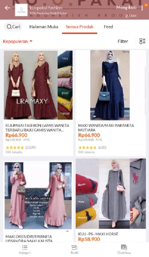 kuupakai fashion Sebagai Toko Baju Muslim Terlaris di Lazada