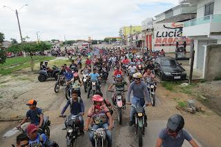 MARACAÇUME-MA: DIVERSOS MOTOQUEIROS COMPARECEM NA TRILHA DE INVERNO