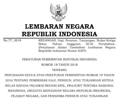 pp no 18 tahun 2018