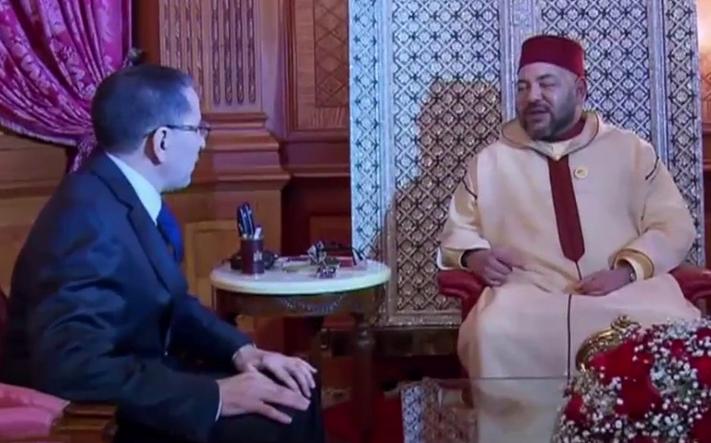 جلالة الملك يهنئ العثماني ويشيد بابن كيران
