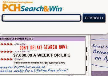 Win prizes while searching online