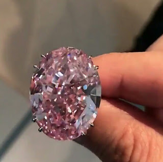 The most expensive diamond in the history of the Pink Star in billions
